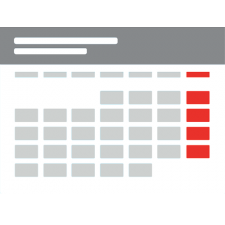 Calendario programado (pequeño)